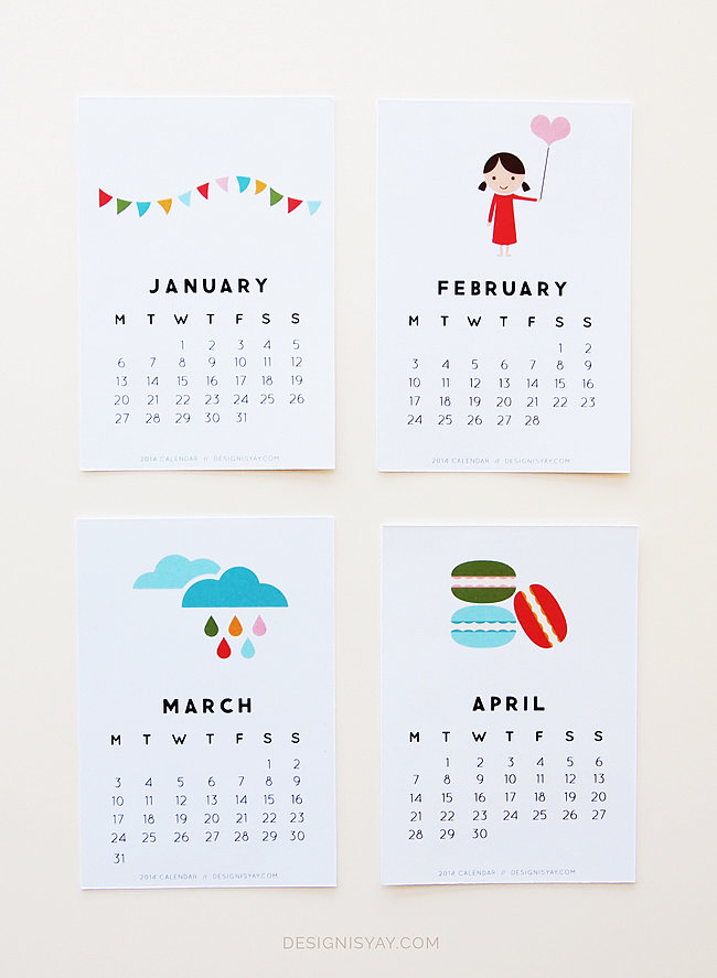 Colorful-Illustrations-2014-Calendar