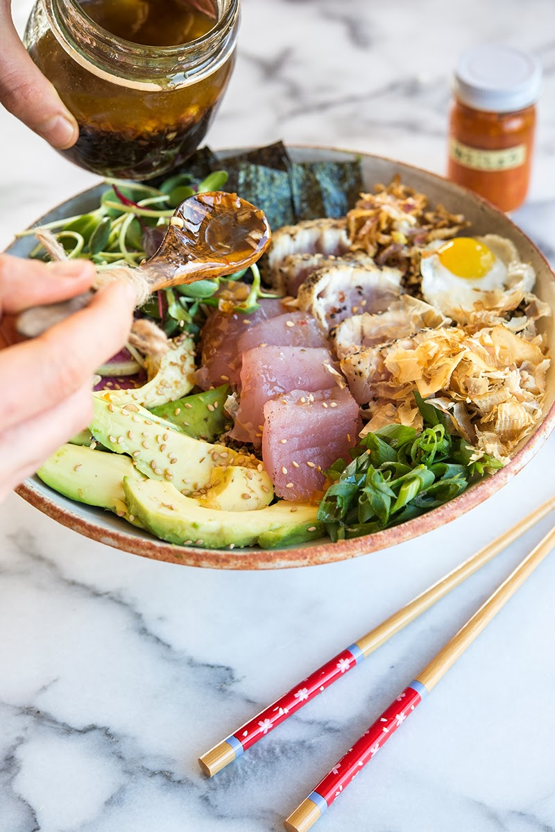 foodie: yummy! deconstructed sushi bowl..