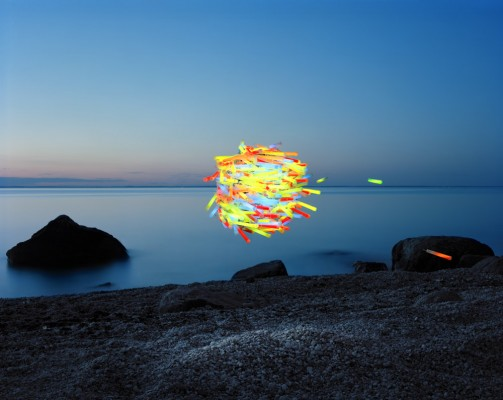 Hamburg Kennedy Photography. Thomas Jackson. Glow Sticks #1, 2012. Archival pigment print. 30x38 in. $4,500