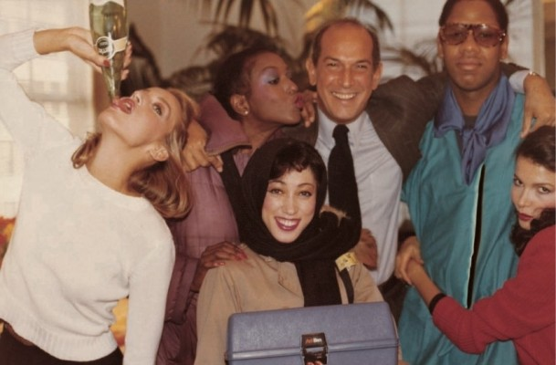 oscar with billy blair, jerry hall, pat cleveland, andre leon talley + dalma