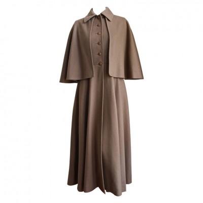 rare YSL wool cape coat