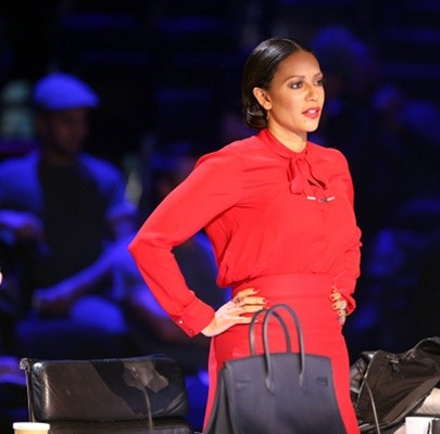 mel b is rocking the red..