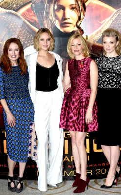 the gals from the hunger games. love that movie!