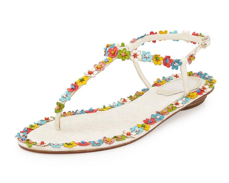 René-Caovilla-Lace-Floral-Thong-Sandal