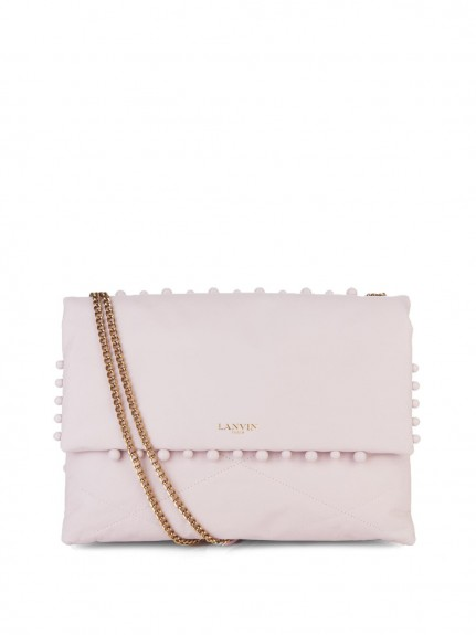 Lanvin Sugar pearl-embellished leather shoulder bag