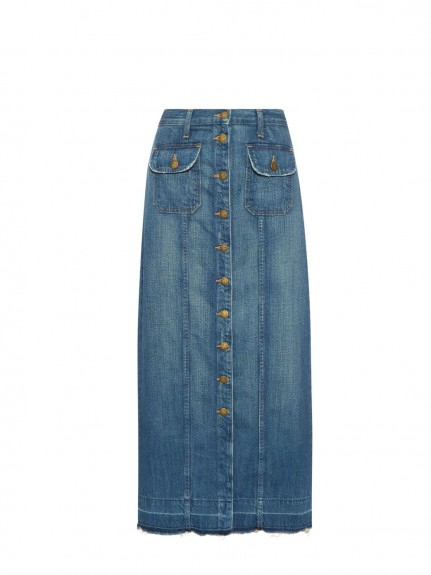 current/elliot sally denim maxi skirt