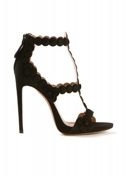 Azzedine Alaïa black suede cutout sandals