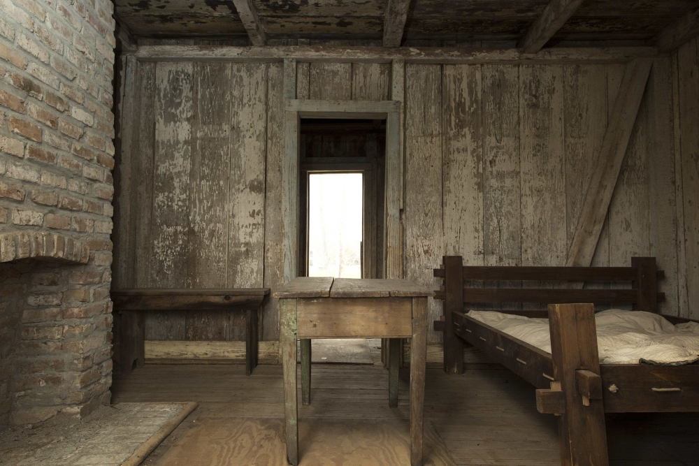 The interior of a slave quarters at the Whitney Plantation in Wallace, Louisiana January 13, 2015. This structure is original to the site. Unlike other plantation museums along the Great River Road between New Orleans and Baton Rouge, the newly opened and under-construction Whitney Plantation focuses squarely on the plight of slaves. Photo taken January 13, 2015. REUTERS/Edmund Fountain (UNITED STATES - Tags: SOCIETY TRAVEL)