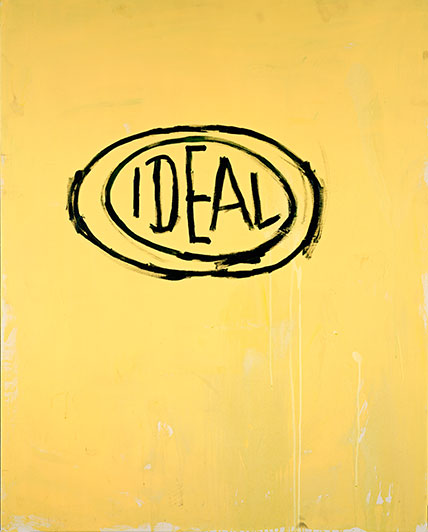 Jean-Michel Basquiat (American, 1960–1988). Untitled (Ideal), 1988. Acrylic and oilstick on canvas, 491⁄2 x 391⁄2 in. (125.7 x 100.3 cm). Estate of Jean-Michel Basquiat. Copyright © Estate of Jean-Michel Basquiat, all rights reserved. Licensed by Artestar, New York