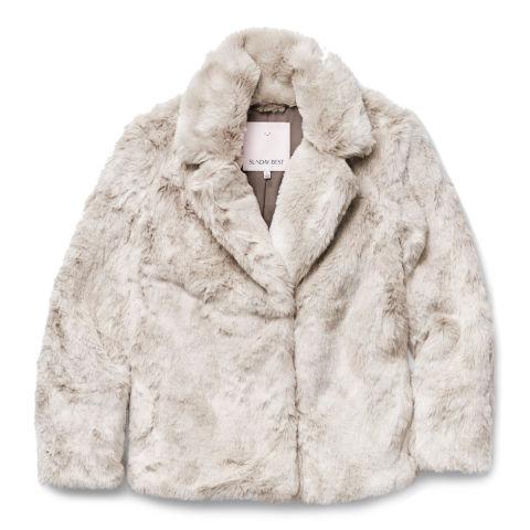 aritzia faux fur $150