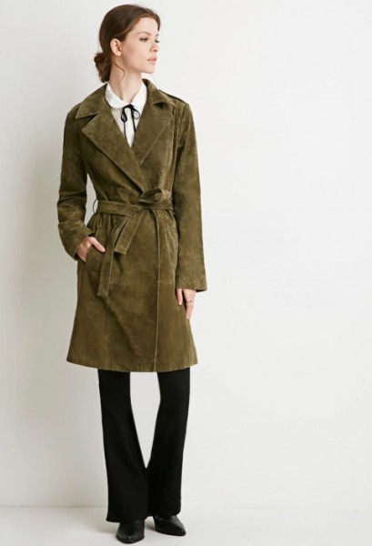 belted suede coat by forever 21 $79.90