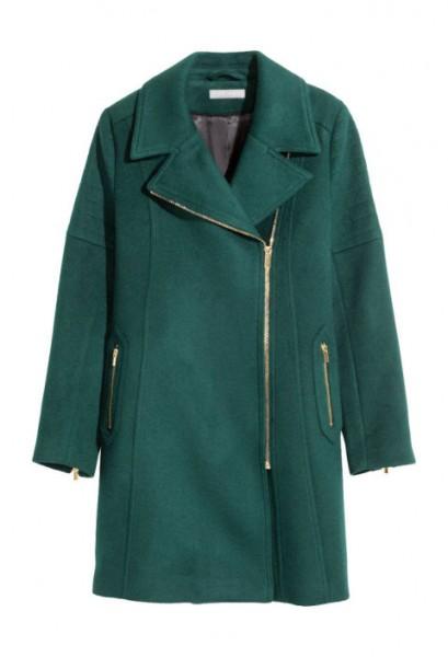 h &m  wool-blend coat, $129,