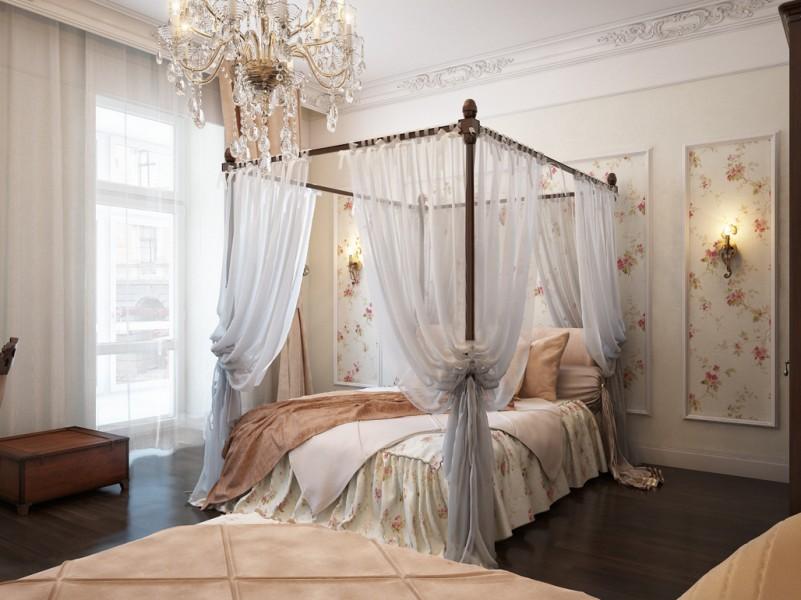 White cream color of romantic bedroom Decoration Idea