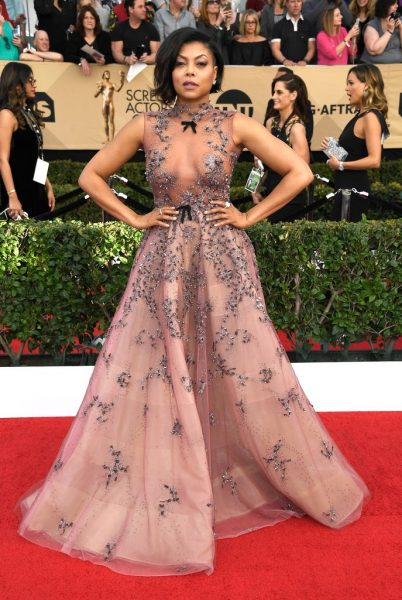 Taraji P. Henson in Reem Acra Photo: Frazer Harrison