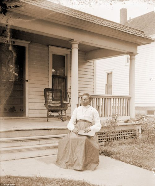 Johnson is known to have taken at least 500 photographs. Among those portraits, Johnson captured images of his friends and family, including his mother, Margaret Johnson, pictured. Margaret was born in Mississippi in 1854, probably in slavery, and died in Lincoln in 1926. She is pictured in front of Johnson's house