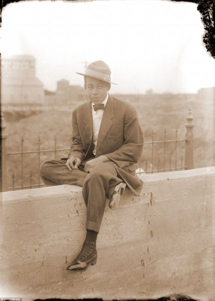 Ruth's brother, Dakota Talbert was born in Fort Scott, Kansas, in 1898. When he was 15 his family moved to Lincoln. During World War I, Dakota served in the army in France. He is pictured sitting on a concrete wall that may have been part of a bridge in Lincoln