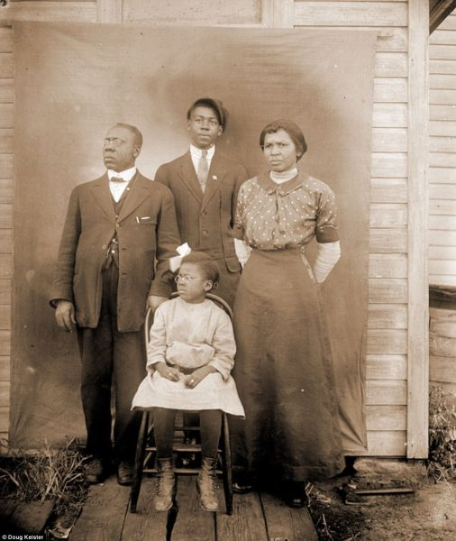 The Talbert family, pictured, came to Lincoln in 1913 from Guthrie, Oklahoma. Reverend Albert W. Talbert, far left, served as a minister until 1920. His wife Mildred, or Millie, far right, worked as a hairdresser to help Ruth, front center, as she went through Lincoln High School and went on to earn a two-year teaching certification from the University of Nebraska in 1926. The family, including Ruth's brother Dakota, rear center, is pictured in front of the Newman Methodist Episcopal Church at 733 J Street in 1914. Albert was 55, Millie was 40, Dakota was 16 and Ruth was 8.
