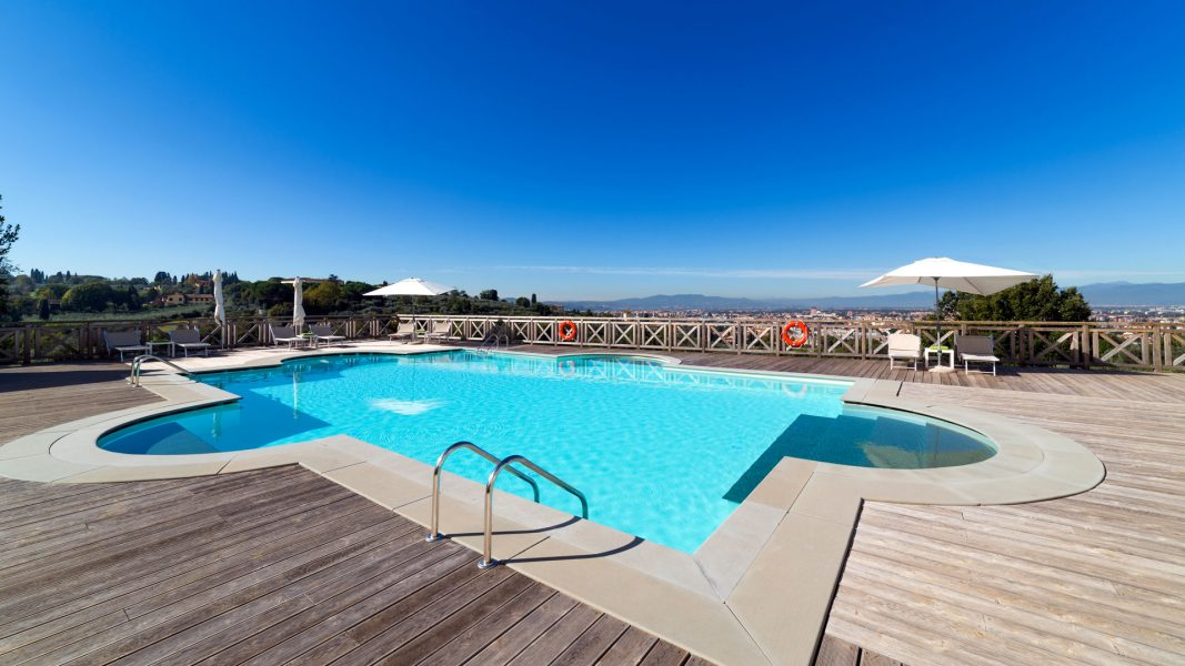 Villa Tolomei Pool with a VIEW